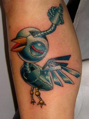 Automate oiseau tatouage