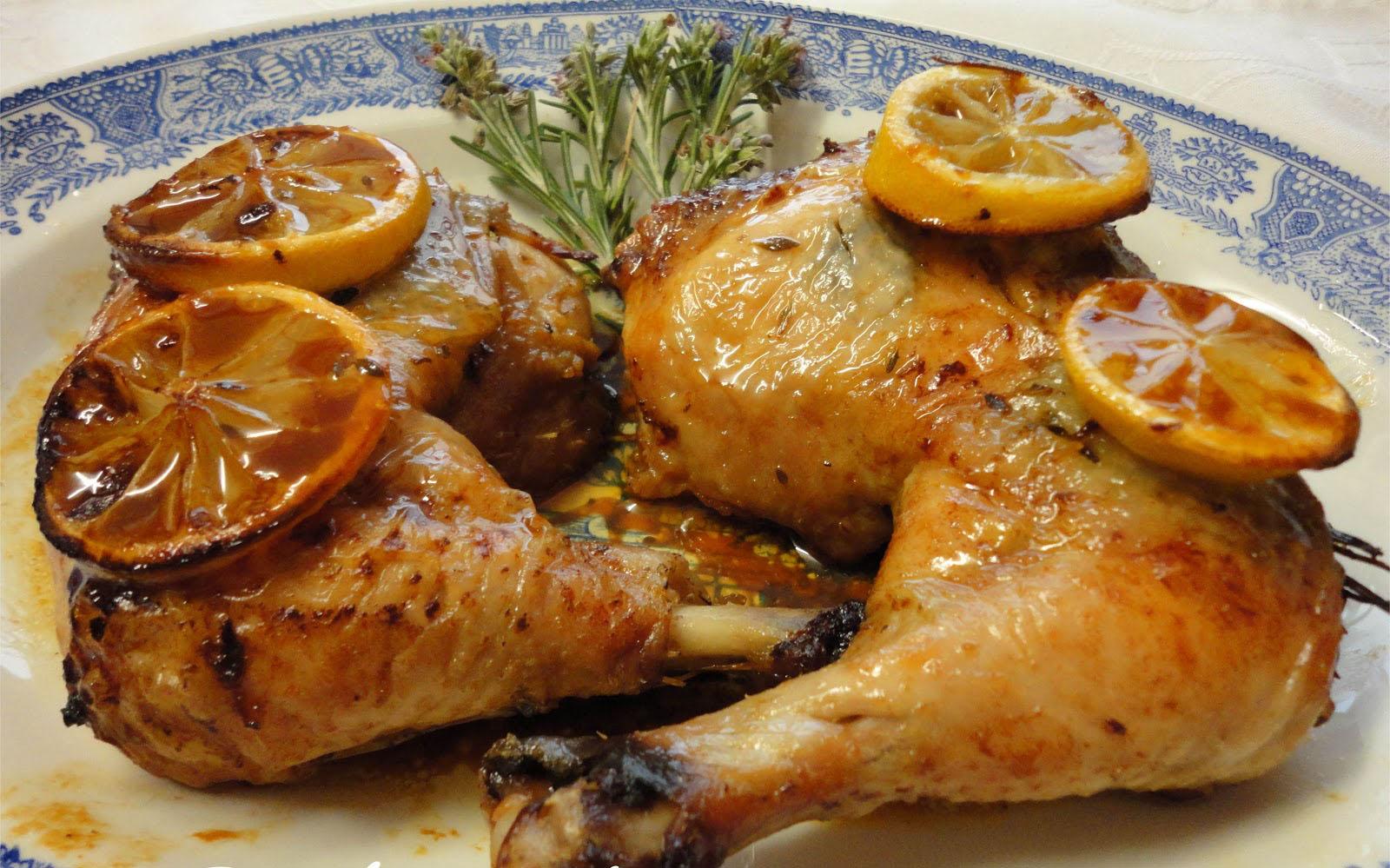 Nutylicius pollo asado al limon - Pollo al horno con limon y patatas ...