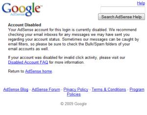 Penyebab Akun Google AdSense Dibanned