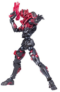 Kaiyodo Revoltech Assemble Borg Nexus Figure with Crimson Gear