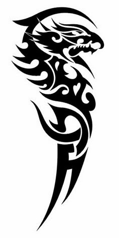 Tribal Half Sleeve Tattoo Stencil 5 (full size)
