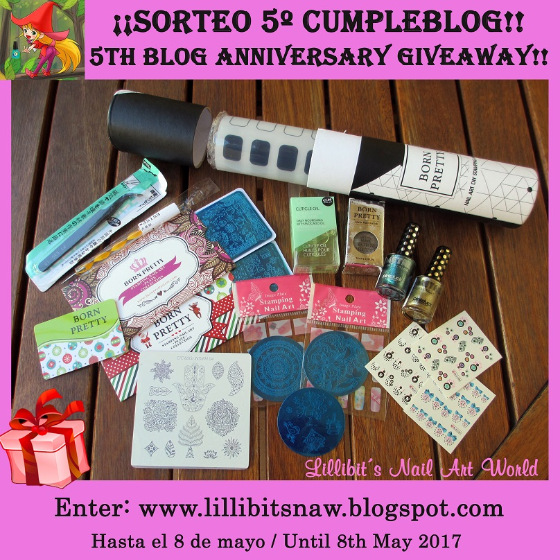 Sorteo 5 º cumpleblog Lillibit´s Nail Art World