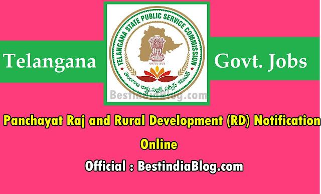Telangana Panchayat Raj and Rural Development (RD) Recruitment notification