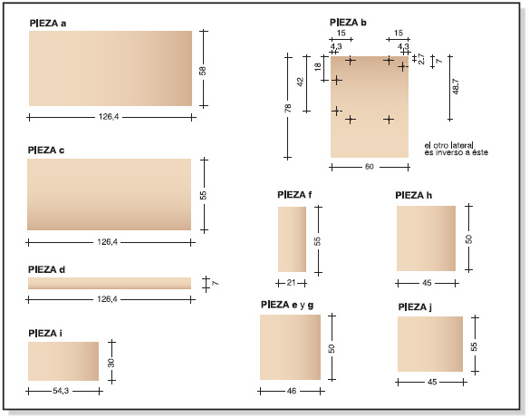 Bricolaje como hacer plano muebles melamina escritorio diy for Escritorios para oficina dimensiones