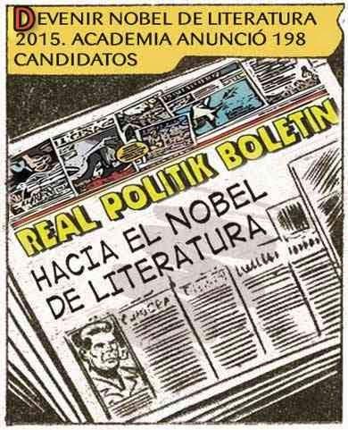front page cómic - premio nobel de literatura 2015