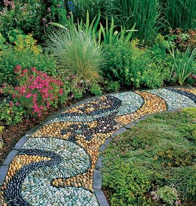Garden Decorating Ideas Photograph Garden path decorating