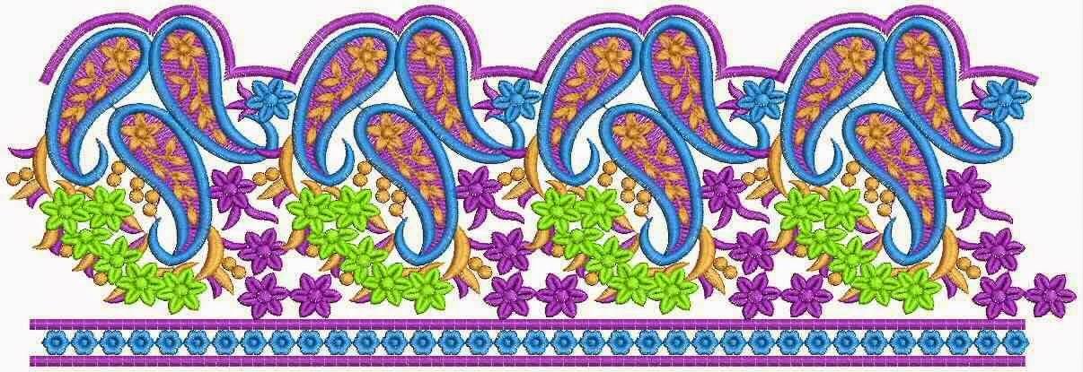kulturele naaldwerk borduurwerk kant grens