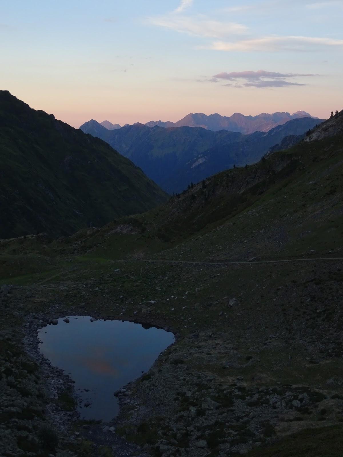 Lac Noir in der Abenddämmerung