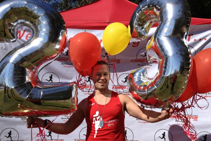 Jason celebrates 23 miles
