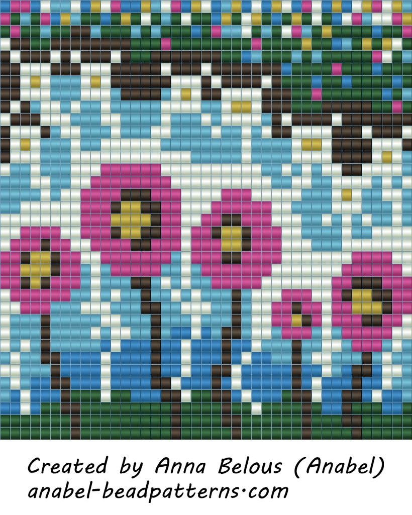 плетение пейот кулоны схемы