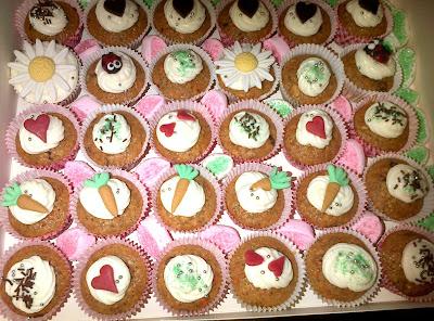 Mini Cupcakes de Bizcocho de Zanahoria