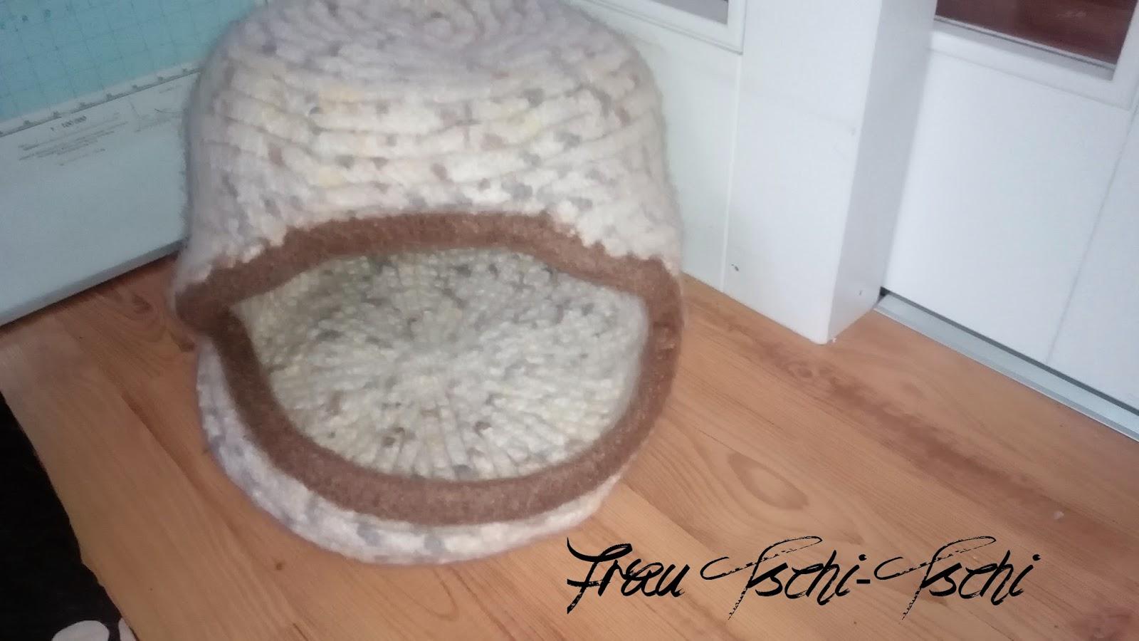 Frau Tschi Tschi Katzenhöhle Häkeln Und Verfilzen Anleitung Kostenlos