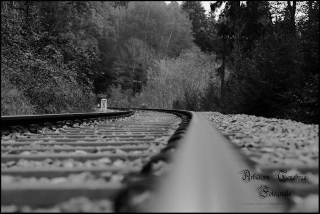 Schiene der Wieslauftalbahn