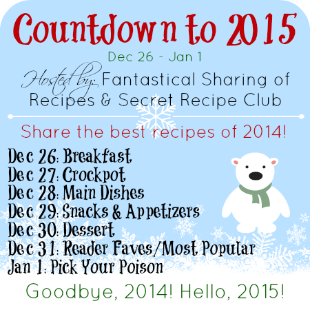 Find some new recipes to try in the new year, as we say goodbye to 2014! The Countdown to 2015 has a slew of #recipes from many food blogs! #Countdownto2015 #newyear