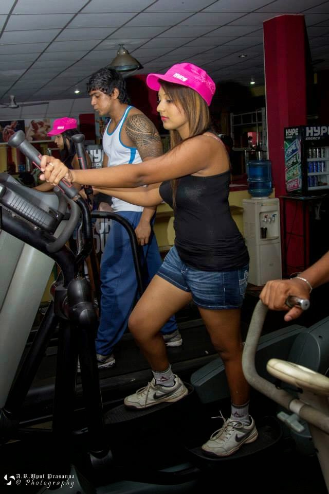 Shani Shenaya Wickremasinghe hot workout