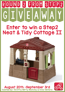 Enter to win the Step2 Neat & Tidy Cottage II Giveaway. Ends 9/3.