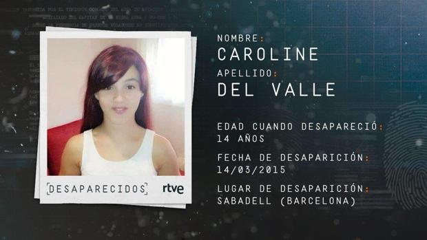 DESAPARICIÓN DE CAROLINE DEL VALLE