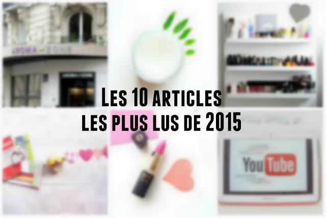 Vos favoris de l'année 2015: les 10 articles les plus lus