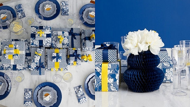 Martha Celebrations for JCPenny indigo table