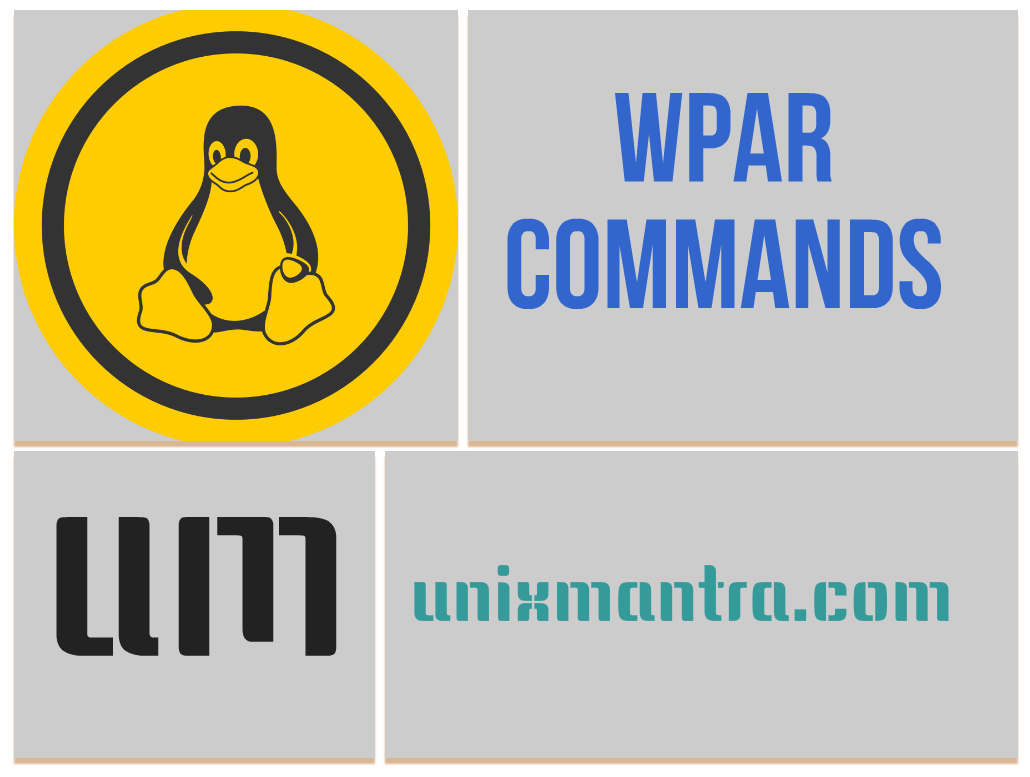 AIX 6.1 WPAR Commands