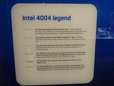 Intel 4004 Chip Board Legend