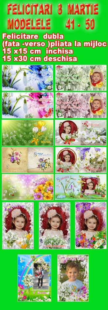 Felicitari 8 Martie - Modelele 41 - 50