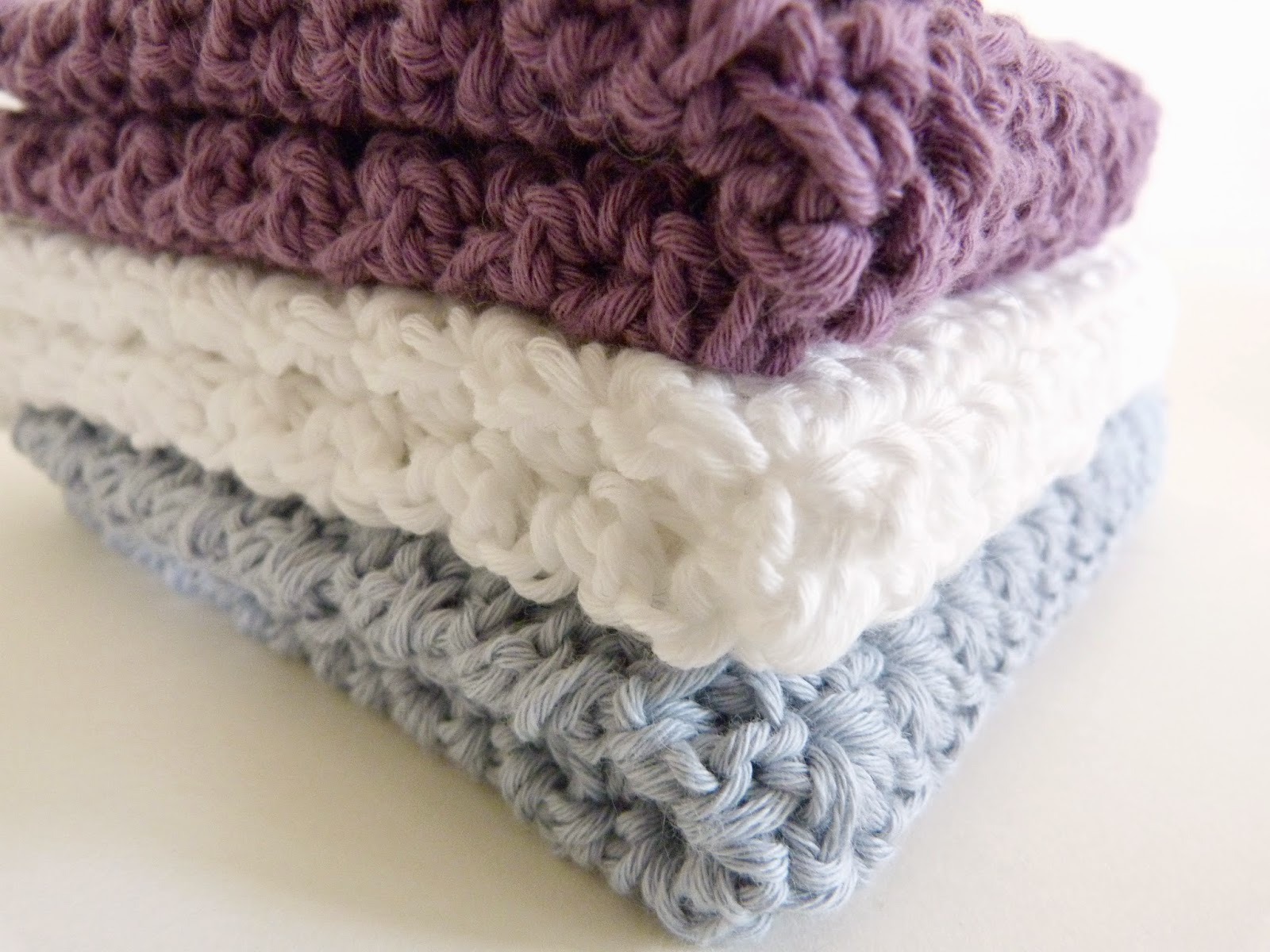 Handmade by Bunny Bosworth: Handmade Home: Crochet Face Cloths