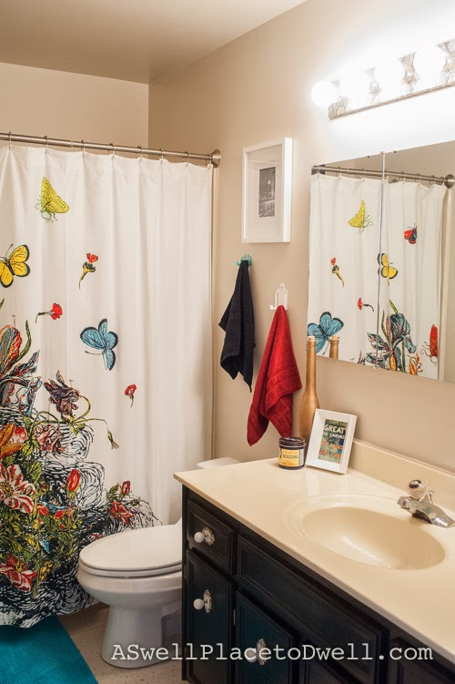 Budget Bathroom Reveal at ASwellPlacetoDwell.com  #bathroom #makeover