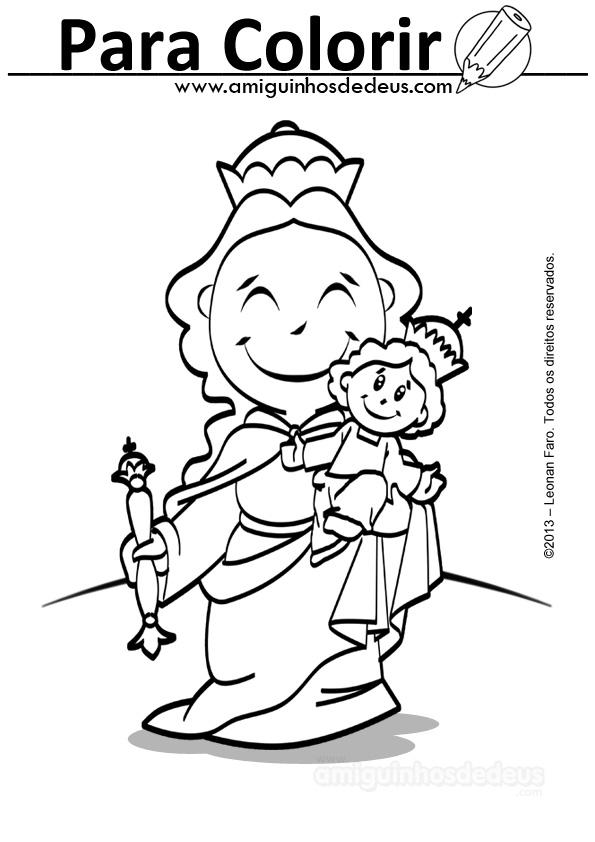 Nossa Senhora Auxiliadora para colorir