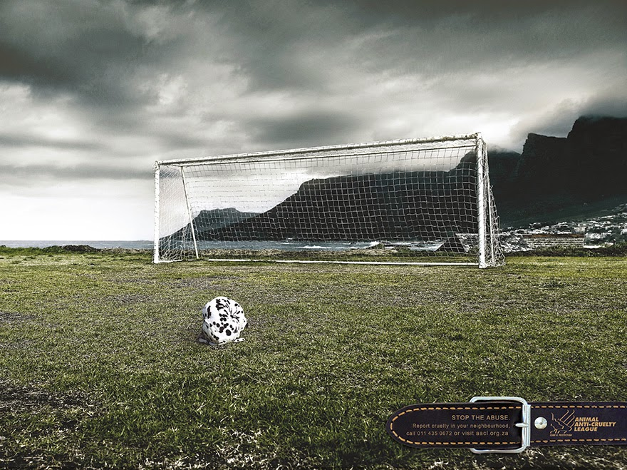 40 Of The Most Powerful Social Issue Ads That'll Make You Stop And Think - Animal Anti-Cruelty League: That's Not A Football
