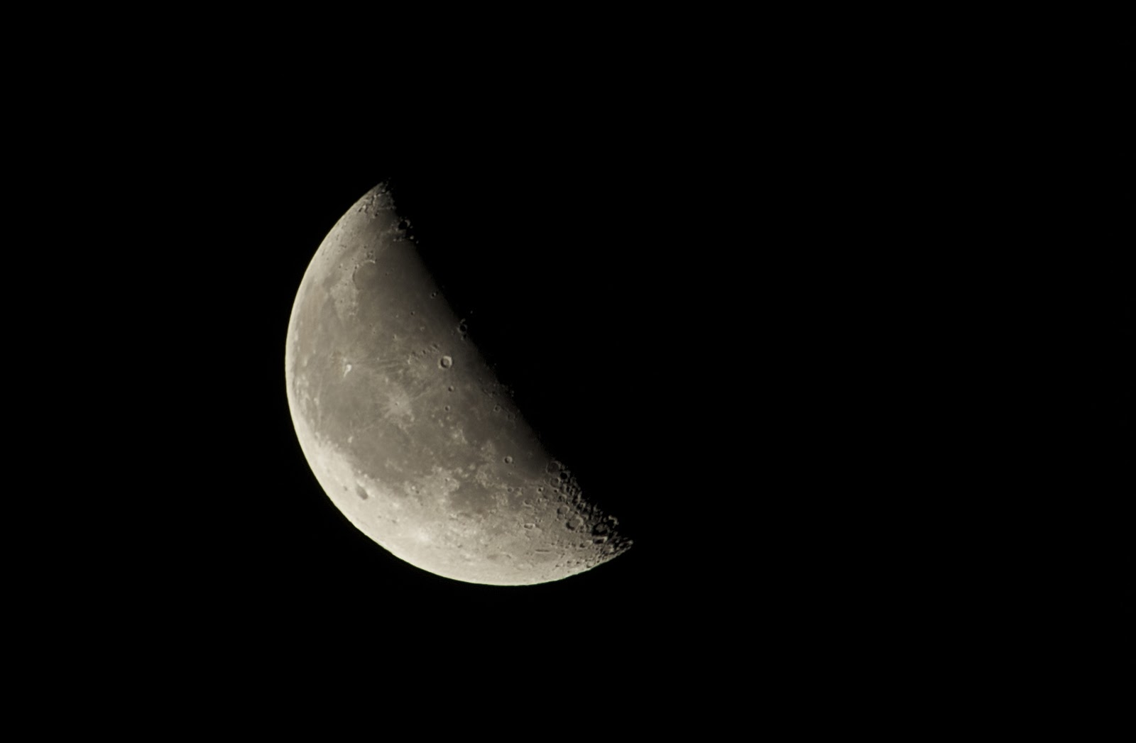 waning quarter moon with canon T5i