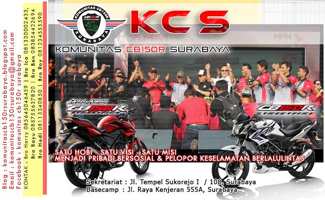 kontak KCS (komunitas CB150R Surabaya)