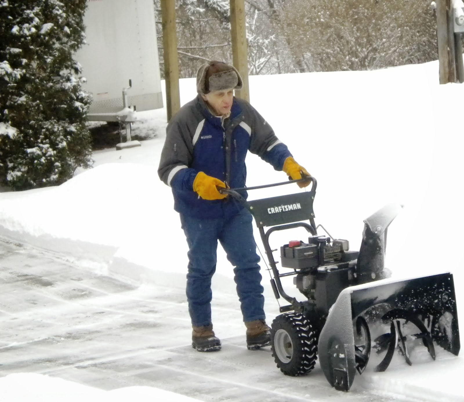 Snow blower by Jerry at work