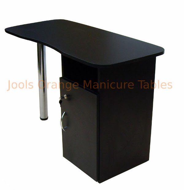 Jools orange manicure tables nail furniture beauty for Black nail desk