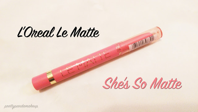 Loreal She's So Matte Le Matte swatch