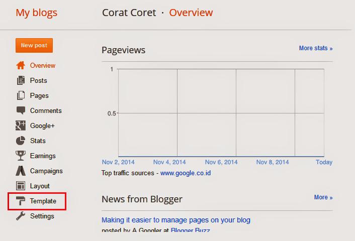 Cara Menginstal Template di Blogspot