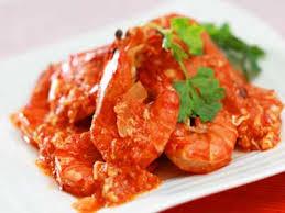 Shrimp with padang sauce