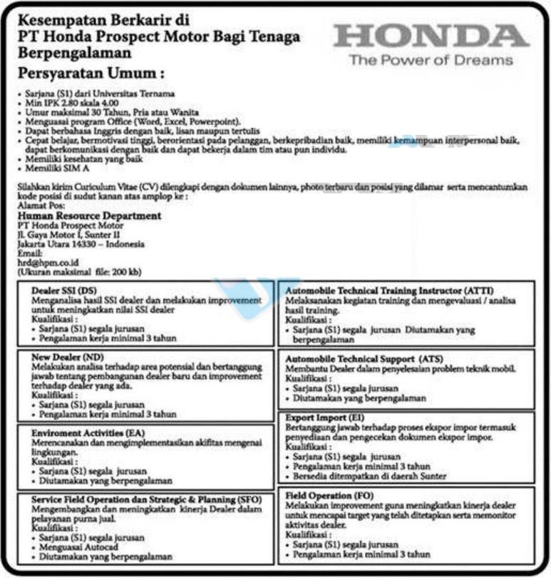 Resume 201208: PT Honda Prospect Motor