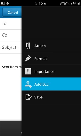 Una de las características más simples que tiende a pasar por alto cuando se envía un correo electrónico es el campo CCO. En lo personal, esta es una opción que he utilizado en el trabajo, pero es un año importante, no obstante. Si envías un gran número de correos electrónicos diariamente necesitas saber esto, Esta guía nos llega por parte de los amigos de CrackBerry donde nos muestran los pasos a seguir. Si bien no aparece automáticamente como una opción por defecto en la pantalla de redacción pero se puede acceder de manera fácil.. Al redactar un mensaje, pulse y