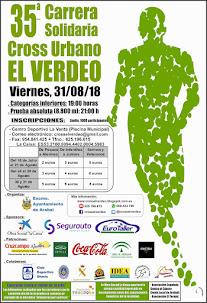 """XXXV  Carrera Solidaria Cross Urbano """"El Verdeo"""""""