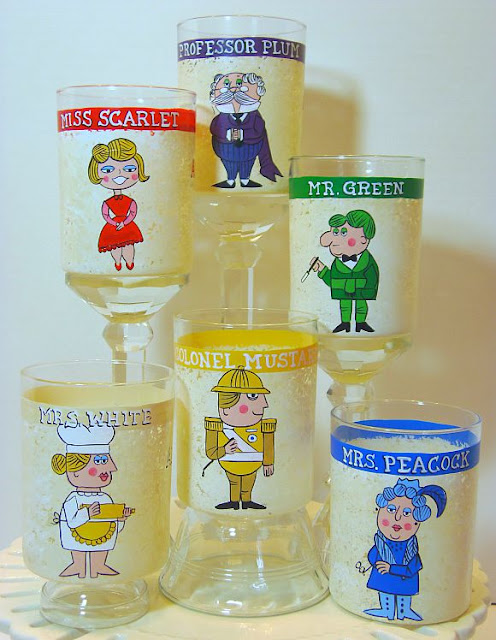 Set of 6 Clue Character Glasses