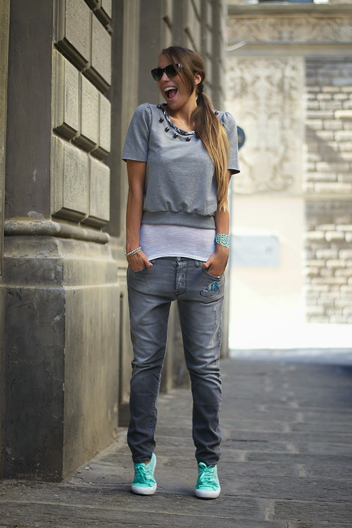 jeans boyfriend grigi