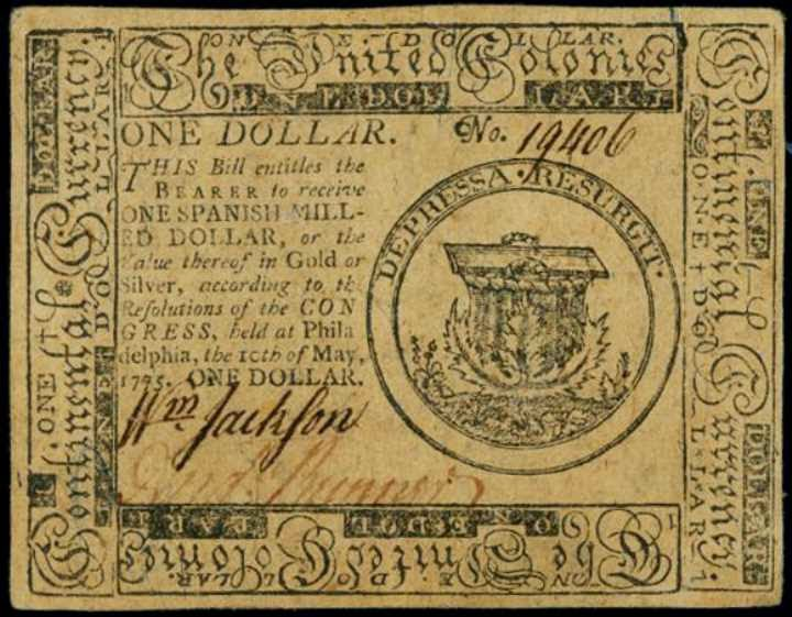 Continental Dollar 1775