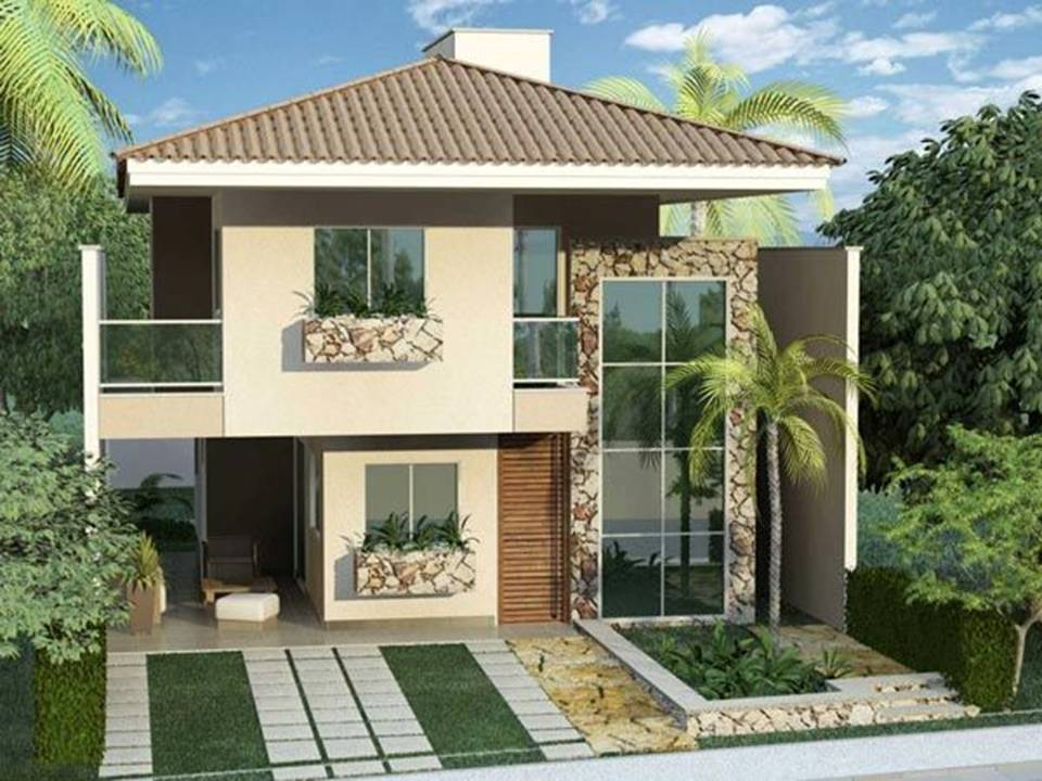 Home decor 35 exterior home design simple but luxury for Simple luxury homes