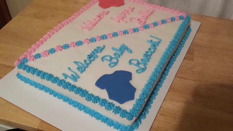 Cassies Cakes And Sweets Double Baby Shower Cake And Party
