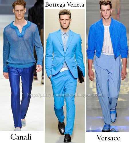 мъжко облекло изцяло в синьо