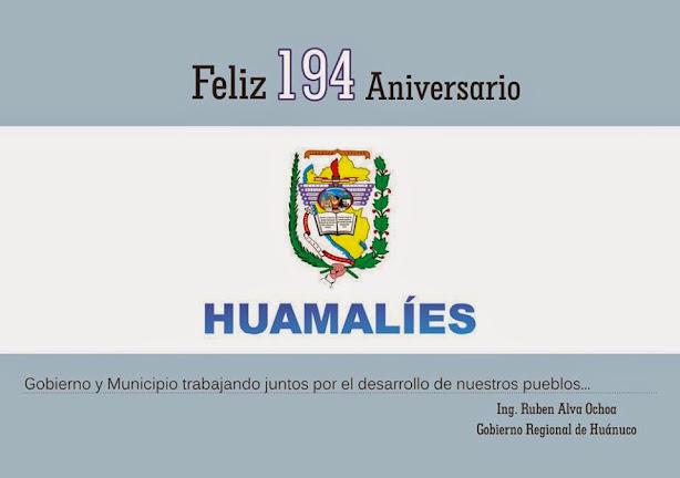 12 DE FEBRERO ANIVERSARIO DE HUAMALIES