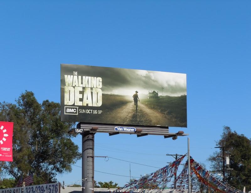 The Walking Dead season 2 TV billboard