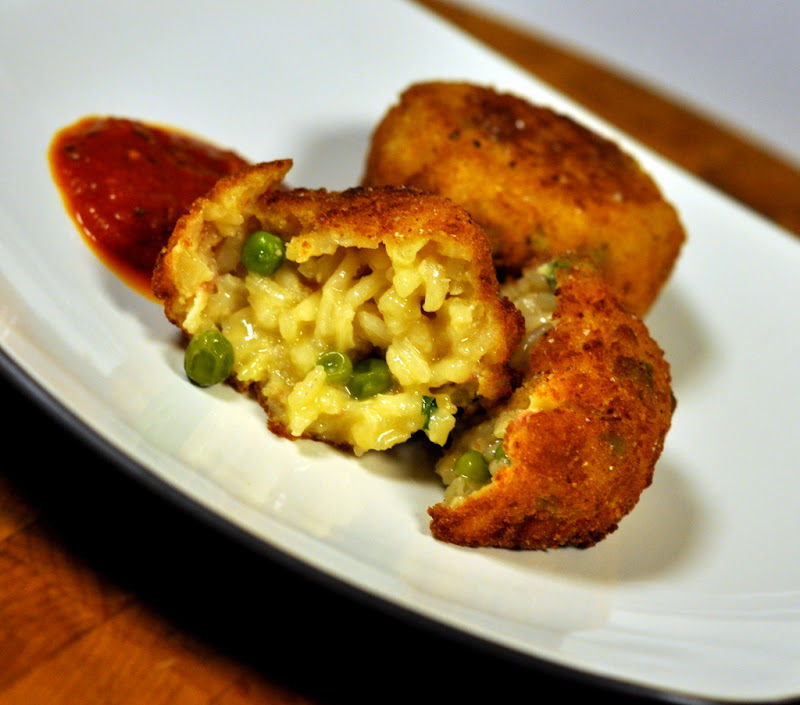 Pea and Prosciutto Arancini (and a Giveaway) | Taste As You Go