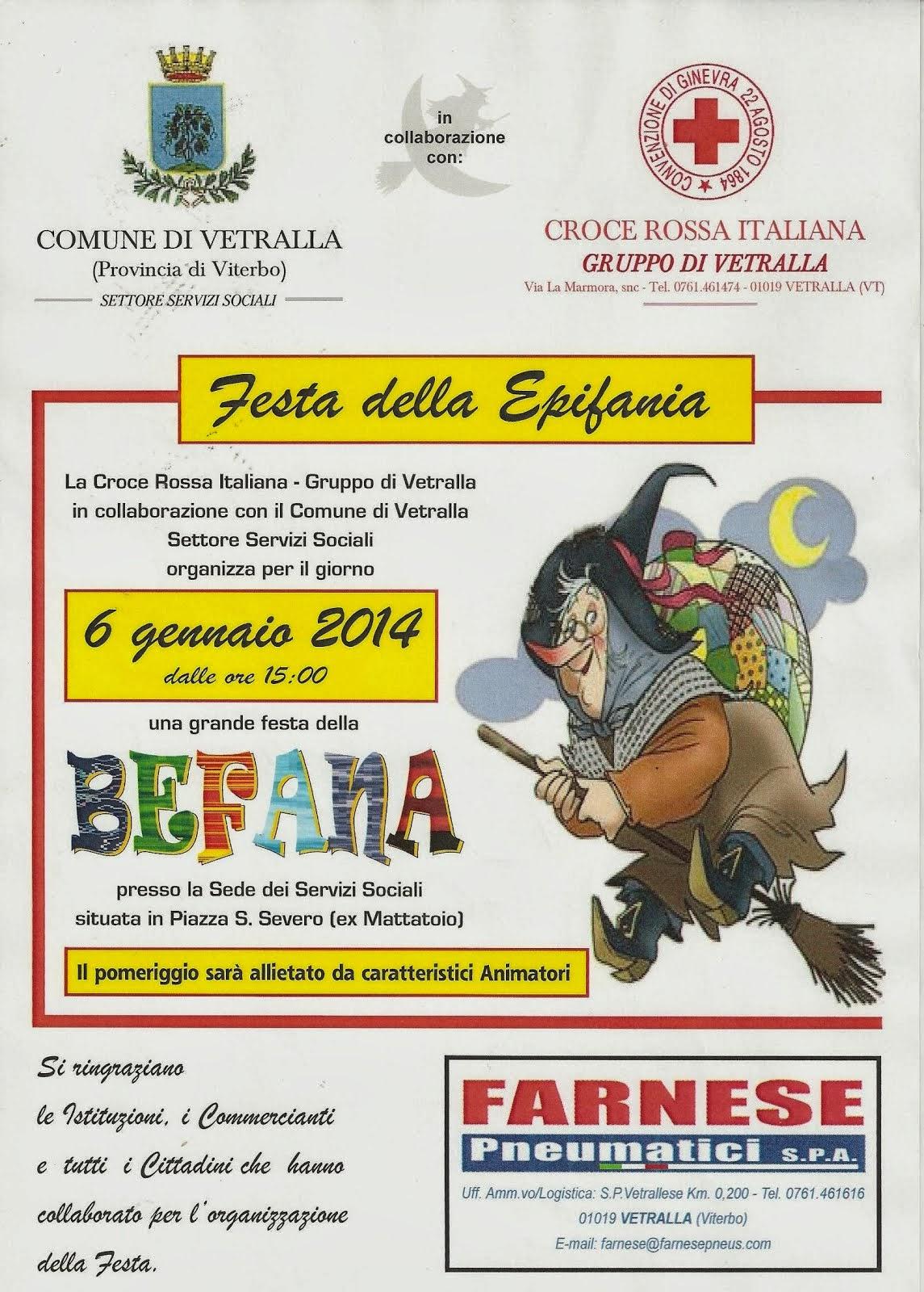 Croce Rossa Italiana - Gruppo di Vetralla presenta la Befana
